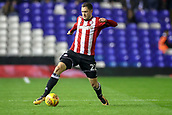 1st November 2017, St. Andrews Stadium, Birmingham, England; EFL Championship football, Birmingham City versus Brentford; Henrik Dalsgaard of Brentford reaches for the ball to keep control