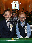 Mark Smith and Daniel Matthews who received first holy communion in St Joseph's church Mell. Photo:Colin Bell/pressphotos.ie