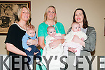 Triple Christening :The Holly  sisters Graine Kelly, Mairead  Egan & Eimear Hollyand thier babies Darra, Sadhbh & Muireahh Kiely pictured at the Listowek Arms Hotel after the christening ceremony at Glin Church by Fr. Crawford on Saturday last.