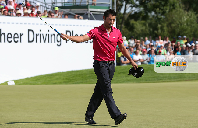 Pablo Larrazabal (ESP) makes par on the last and will win the Final Round of the 2015 BMW International Open at Golfclub Munchen Eichenried, Eichenried, Munich, Germany. 28/06/2015. Picture David Lloyd | www.golffile.ie