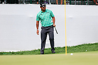 Hideki Matsuyama (JPN) on the 10th green during the 3rd round of the Waste Management Phoenix Open, TPC Scottsdale, Scottsdale, Arisona, USA. 02/02/2019.<br /> Picture Fran Caffrey / Golffile.ie<br /> <br /> All photo usage must carry mandatory copyright credit (&copy; Golffile | Fran Caffrey)