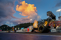 Jun 16, 2017; Bristol, TN, USA; NHRA top fuel driver Antron Brown during qualifying for the Thunder Valley Nationals at Bristol Dragway. Mandatory Credit: Mark J. Rebilas-USA TODAY Sports