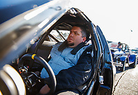 Feb 25, 2018; Chandler, AZ, USA; NHRA super gas driver Clint Fishel during the Arizona Nationals at Wild Horse Pass Motorsports Park. Mandatory Credit: Mark J. Rebilas-USA TODAY Sports