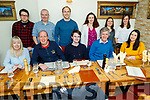 Staff of Radio Kerry enjoying the evening in Bella Bia on Thursday.<br /> Seated l to r: Fiona Stack, Gerry O'Sullivan, Matthew Green, Tim O'Keeffe and Aisling O'Brien.<br /> Back l to r: David Corkey, Trevor Galvin, Eammon Hickson, Treasa Murphy, Mary Mullins and Amber Galway.