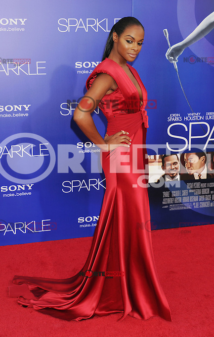 HOLLYWOOD, CA - AUGUST 16: Tika Sumpter arrives for the Los Angeles premiere of 'Sparkle' at Grauman's Chinese Theatre on August 16, 2012 in Hollywood, California. /NOrtePHOTO.COM<br />