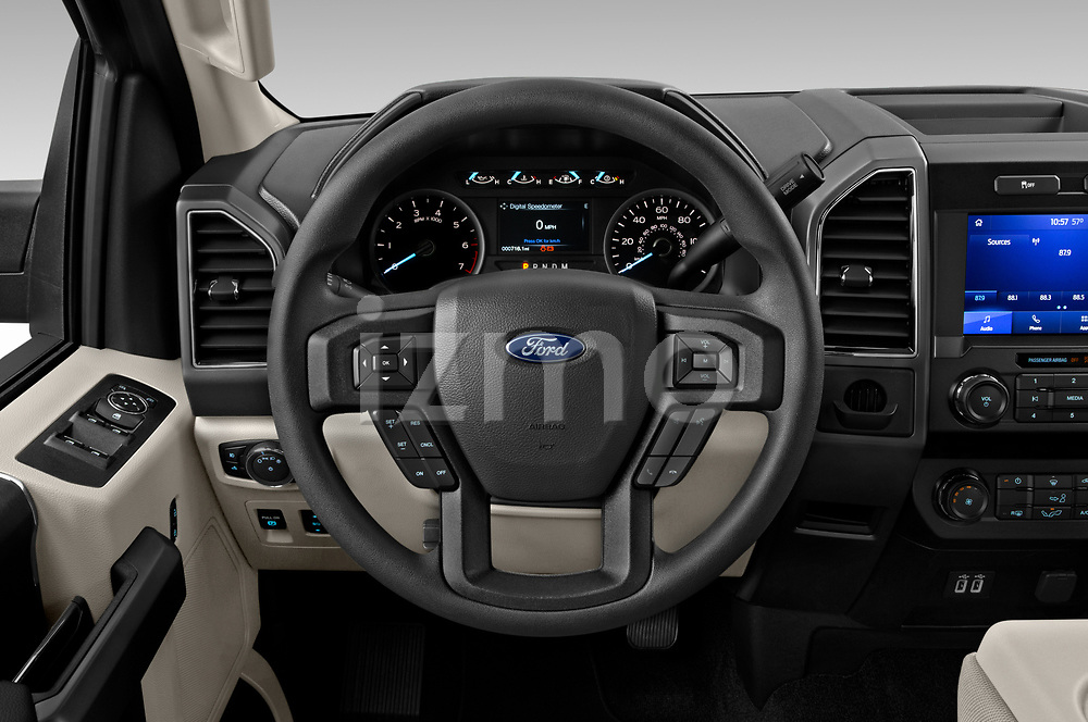 Car pictures of steering wheel view of a 2020 Ford F-150 XLT 4 Door Pick Up