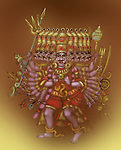 Ravana the ten headed demon king