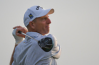 Jim Furyk (USA) watches his tee shot on 11 during day 1 of the Valero Texas Open, at the TPC San Antonio Oaks Course, San Antonio, Texas, USA. 4/4/2019.<br /> Picture: Golffile   Ken Murray<br /> <br /> <br /> All photo usage must carry mandatory copyright credit (&copy; Golffile   Ken Murray)