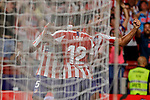 Players of Atletico de Madrid celebrate goal during La Liga match between Atletico de Madrid and SD Eibar at Wanda Metropolitano Stadium in Madrid, Spain.September 01, 2019. (ALTERPHOTOS/A. Perez Meca)