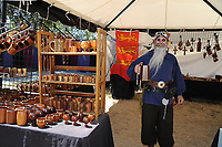 The Original Renaissance Pleasure Faire held in Irwindale, California, U.S.on Saturday, 04/29/2017. Costumed performers and patrons whom spend a day of in character role playing of the Renaissance Period. Enchanted performances on stage, street performing and vendors all playing part to the Middle Ages.