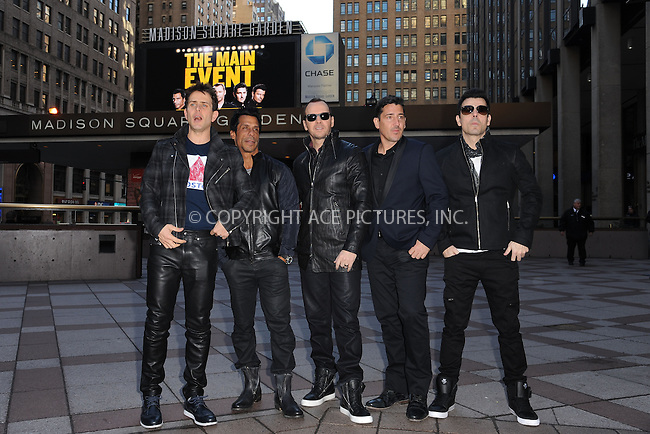 WWW.ACEPIXS.COM<br /> January 20, 2015 New York City<br /> <br /> Joey McIntyre, Danny Wood, Donnie Wahlberg, Jonathan Knight, and Jordan Knight of the group New Kids on The Block  attending a Press Conference at Madison Square Garden on January 20, 2015 in New York City. <br /> <br /> By Line: Kristin Callahan/ACE Pictures<br /> ACE Pictures, Inc.<br /> tel: 646 769 0430<br /> Email: info@acepixs.com<br /> www.acepixs.com