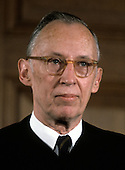 "Associate Justice of the United States Supreme Court Lewis F. Powell, Jr., photographed at the Supreme Court in Washington, D.C. on Monday, April 24, 1972.  Powell was appointed in 1971 by U.S. President Richard M. Nixon..Credit: Benjamin E. ""Gene"" Forte / CNP"