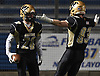 Tom von Bargen #20 of Wantagh, left, gets congratulated by Kyle Graham #83 after catching a pass for a touchdown in the fourth quarter of the Nassau County football Conference III semifinals against South Side at Shuart Stadium in Hempstead on Saturday, Nov. 10, 2018.