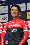 Beppu Fumiyuki (JPN) Trek-Segafredo team presented to the crowd before the start of the 60th edition of the Record Bank E3 Harelbeke 2017, Flanders, Belgium. 24th March 2017.<br /> Picture: Eoin Clarke | Cyclefile<br /> <br /> <br /> All photos usage must carry mandatory copyright credit (&copy; Cyclefile | Eoin Clarke)