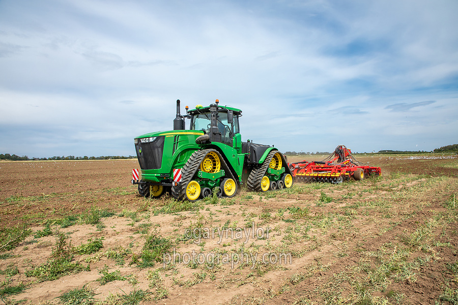 Drilling cover crop into ex pea land - Lincolnshire, July