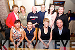 Sandra Walsh and Honor Hurley from Tralee celebrating their Birthdays with friends.  Cliona Walsh, Sandra Walsh, Honor Hurley, Willie White, Lillian Holmes, Vicky Green, Stephen Hennessy, Dave, Aine Hurley and Joe Burkett at Bella Bia on Saturday