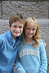 Austin Williams (with new braces) poses with his sister Amber at the OLTL Studios, New York City, New York. (Photo by Sue Coflin/Max Photos)