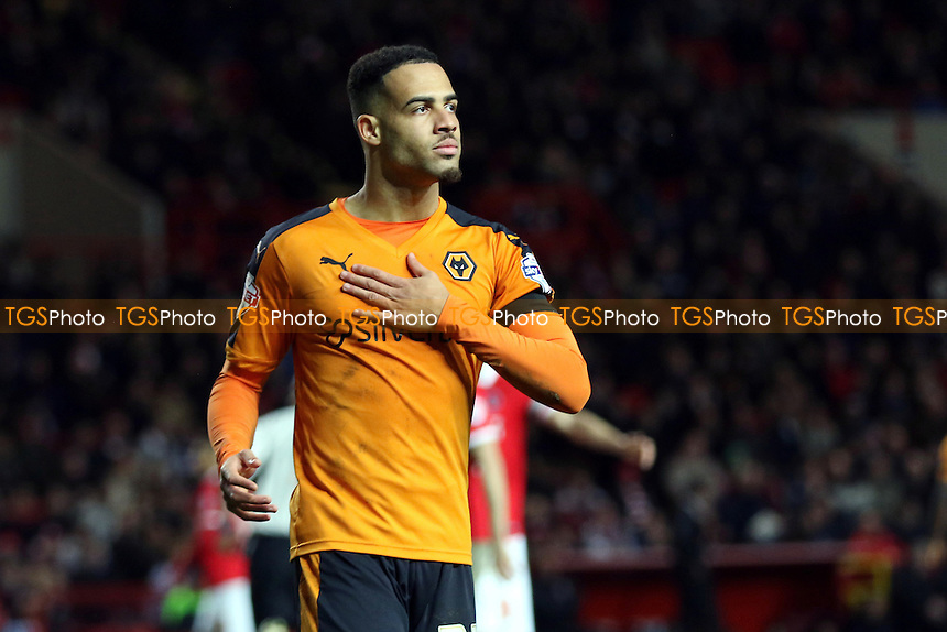 Jordan Graham who scored his first ever goal for Wolves during Charlton Athletic vs Wolverhampton Wanderers, Sky Bet Championship Football at The Valley, London, England on 28/12/2015