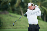 Gary Player plays a second shot during the World Celebrity Pro-Am 2016 Mission Hills China Golf Tournament on 21 October 2016, in Haikou, China. Photo by Marcio Machado / Power Sport Images