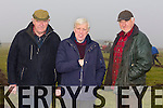 Michael O Hanlon, Ballyheigue,Seamus O Connor Ballyduff and Noel Hanlon Ballyheigue at the County Championship Causeway Ploughing Match in Paul Thornton's, Land Castleshannon, Ballyheigue on Sunday