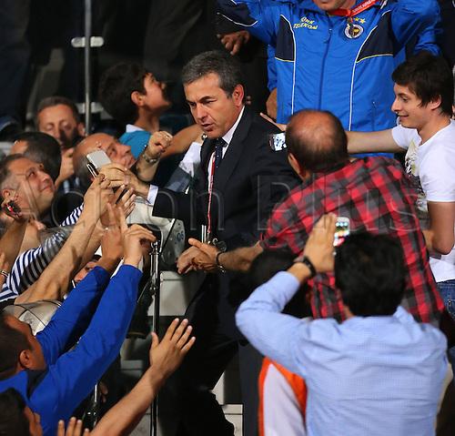22.05.2013. Ankara, Turkey.  Turkish Cup Final Match between Fenerbahce   and Trabzonspor   in Ankara Turkey  The match finished Fenerbahce 1 Trabzonspor 0  Coach Aykut Kocaman of Fenerbahce