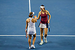 Ying-Ying Duan (R) and Xinyun Han (L) of China celebrates winning the doubles Round Robin match of the WTA Elite Trophy Zhuhai 2017 against Chen Liang and Zhaoxuan Yang of China at Hengqin Tennis Center on November  04, 2017 in Zhuhai, China. Photo by Yu Chun Christopher Wong / Power Sport Images
