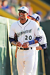 18 June 2010: Vermont Lake Monsters outfielder Marcus Jones chats with fans prior to facing the Lowell Spinners at Centennial Field in Burlington, Vermont. The Lake Monsters defeated the Spinners 9-4 in the NY Penn League season home opener. Mandatory Credit: Ed Wolfstein Photo