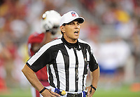 Aug. 28, 2009; Glendale, AZ, USA; NFL referee Tony Corrente during the game between the Arizona Cardinals against the Green Bay Packers during a preseason game at University of Phoenix Stadium. Mandatory Credit: Mark J. Rebilas-