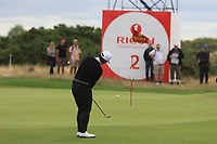 Amy Yang (KOR) on the 2nd green during Round 3 of the Ricoh Women's British Open at Royal Lytham &amp; St. Annes on Saturday 4th August 2018.<br /> Picture:  Thos Caffrey / Golffile<br /> <br /> All photo usage must carry mandatory copyright credit (&copy; Golffile | Thos Caffrey)