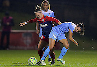 Boyds, MD - Friday Sept. 30, 2016: Christine Nairn, Vanessa DiBernardo during a National Women's Soccer League (NWSL) semi-finals match between the Washington Spirit and the Chicago Red Stars at Maureen Hendricks Field, Maryland SoccerPlex. The Washington Spirit won 2-1 in overtime.