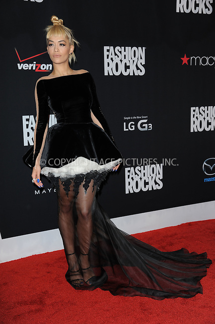 WWW.ACEPIXS.COM<br /> September 9, 2014 New York City<br /> <br /> Rita Ora attending Fashion Rocks 2014 at the Barclays Center on September 9, 2014 in New York City.<br /> <br /> Please byline: Kristin Callahan/AcePictures<br /> <br /> ACEPIXS.COM<br /> <br /> Tel: (212) 243 8787 or (646) 769 0430<br /> e-mail: info@acepixs.com<br /> web: http://www.acepixs.com