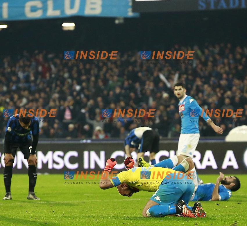 delusione Inter, Esultanza Napoli  <br /> Napoli 30-11-2015 Stadio San Paolo <br /> Football Calcio Serie A 2015/2016 Napoli - Inter<br /> Foto Cesare Purini / Insidefoto