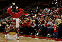 Brutus fires up the crowd as the Buckeyes take on Tennessee Martin Skyhawks at Value City Arena in Columbus Dec. 17, 2013.(Dispatch photo by Eric Albrecht)