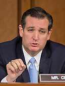 United States Senator Ted Cruz (Republican of Texas) asks questions of  U.S. Secretary of Defense Chuck Hagel and Chairman, Joint Chiefs of Staff General Martin E. Dempsey, U.S. Army, as they deliver testimony before the U.S. Senate Committee on Armed Services on the U.S. policy towards Iraq and Syria and the threat posed by the Islamic State of Iraq and the Levant (ISIL) in Washington, D.C. on Tuesday, September 16, 2014.<br /> Credit: Ron Sachs / CNP