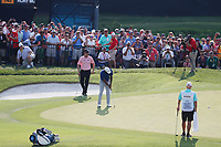 Tiger Woods (USA) putts on the 18th hole during the third round of the 100th PGA Championship at Bellerive Country Club, St. Louis, Missouri, USA. 8/11/2018.<br /> Picture: Golffile.ie | Brian Spurlock<br /> <br /> All photo usage must carry mandatory copyright credit (&copy; Golffile | Brian Spurlock)