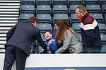 Graeme Murty with Rangers fans before the game