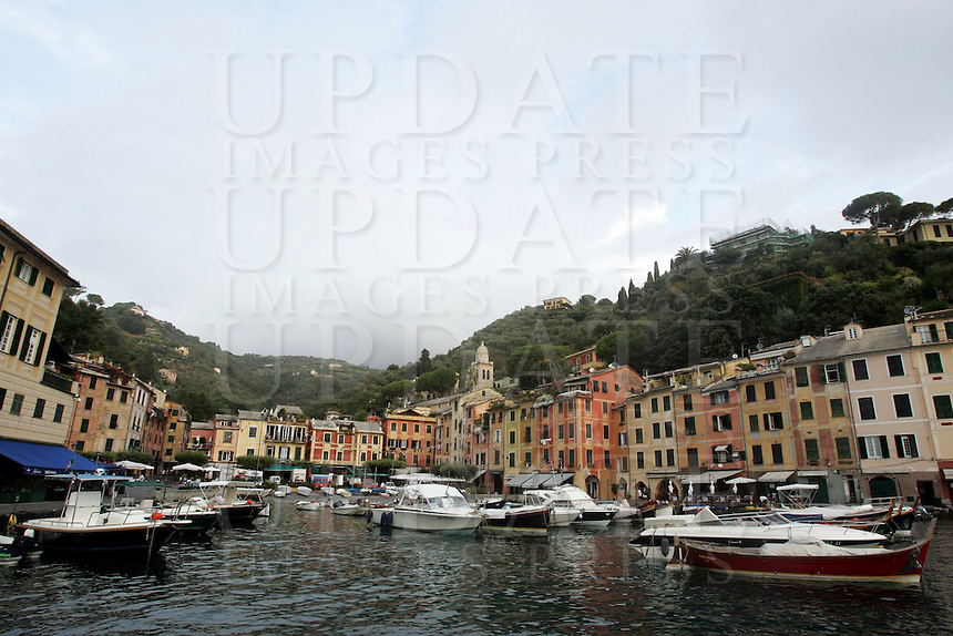 Barche ormeggiate nel porto di Portofino.<br /> Moored boats in the harbor of Portofino.<br /> UPDATE IMAGES PRESS/Riccardo De Luca