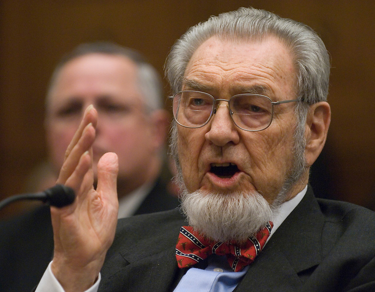 "Former Surgeon General C. Everett Koop testifies during the House Oversight and Government Reform Committee hearing on ""The Surgeon General's Vital Mission: Challenges for the Future"" on Tuesday, June 10, 2007. Also testifying at the hearing were former Surgeons General Richard Carmona and David Satcher."