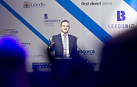 Picture by Allan McKenzie/SWpix.com - 07/03/2017 - Commercial - Leeds Sports Awards 2017 - First Direct Arena, Leeds, England - Leeds Sports Awards, The Brief, Andrew Cooper, Chief Executive of Leeds BID addresses the guests.