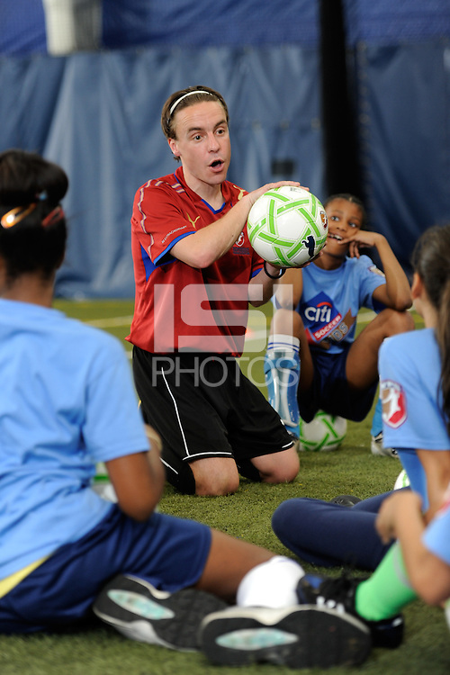 WPS Camps Coaches staffed by UK international Soccer Camps during a Women's Professional Soccer (WPS) soccer clinic at the Starfinder Foundation Facility in Philadelphia, PA, on May 24, 2011.