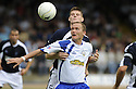 08/08/2009  Copyright  Pic : James Stewart.sct_12_dundee_v_morton  .PETER WEATHERSON HOLDS OFF GARY MACKENZIE....James Stewart Photography 19 Carronlea Drive, Falkirk. FK2 8DN      Vat Reg No. 607 6932 25.Telephone      : +44 (0)1324 570291 .Mobile              : +44 (0)7721 416997.E-mail  :  jim@jspa.co.uk.If you require further information then contact Jim Stewart on any of the numbers above.........