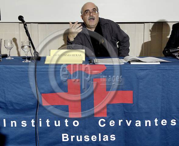 Brussels-Belgium - 21 February 2008---Guillermo HERAS, Director of Iberescena (theater, Spain), during a presentation on Spanish theater, at the Instituto Cervantes---Photo: Horst Wagner / eup-images