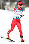 Daiki Kawayoke (JPN), <br /> MARCH 17, 2018 - Cross-Country Skiing : <br /> Men's Classical 10km Standing <br /> at Alpensia Biathlon Centre <br /> during the PyeongChang 2018 Paralympics Winter Games in Pyeongchang, South Korea. <br /> (Photo by Sho Tamura/AFLO SPORT)