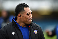 Anthony Perenise of Bath Rugby looks on prior to the match. Heineken Champions Cup match, between Bath Rugby and Wasps on January 12, 2019 at the Recreation Ground in Bath, England. Photo by: Patrick Khachfe / Onside Images