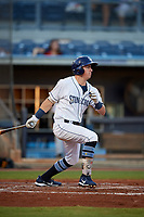 Charlotte Stone Crabs designated hitter Brendan McKay (31) lines out during a game against the Bradenton Marauders on August 6, 2018 at Charlotte Sports Park in Port Charlotte, Florida.  Charlotte defeated Bradenton 2-1.  (Mike Janes/Four Seam Images)