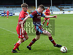 Drogheda United Dylan Connolly, Shelbourne Cian Delaney. Photo:Colin Bell/pressphotos.ie