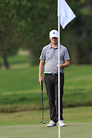 Cormac Sharvin (NIR) on the 8th green during Round 1 of the Challenge Tour Grand Final 2019 at Club de Golf Alcanada, Port d'Alcúdia, Mallorca, Spain on Thursday 7th November 2019.<br /> Picture:  Thos Caffrey / Golffile<br /> <br /> All photo usage must carry mandatory copyright credit (© Golffile | Thos Caffrey)