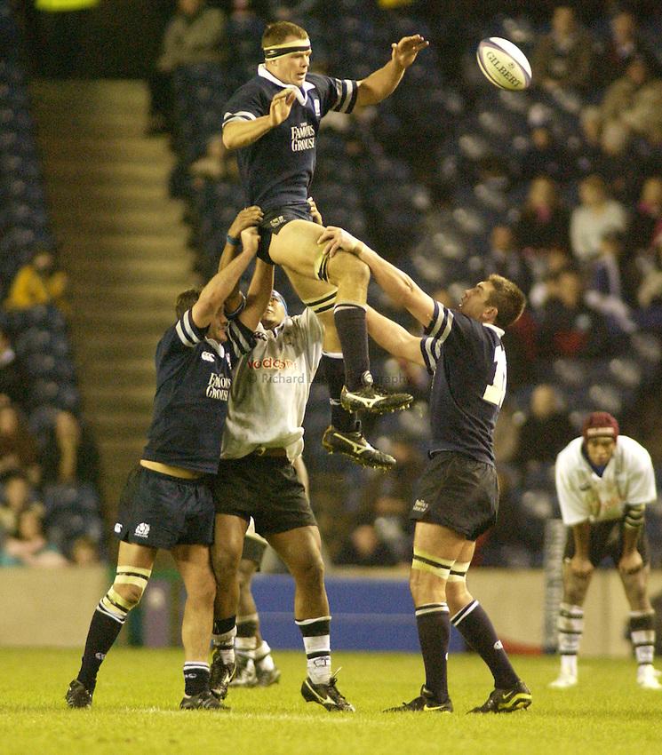 Photo. Jed Wee.Scotland v Fiji, Rugby Union International, Murrayfield, Edinburgh, Scotland. 24-11-2002..Scotland's Stuart Grimes.