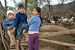 Guarani indigenous children in Choroquepiao, a small village in the Chaco region of Bolivia. Church World Service works with families in the village to improve the quality of their lives.