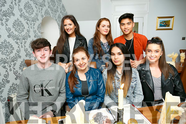 Killian Dalton, going to Portugal for the summer, celebrates with friends from Mercy Mounthawk at Bella Bia's on Saturday front l-r Killian Dalton, Grainne Sheehan, Tamila Khussaniova, Peggy Lenihan Back l-r Roisin Daly, Laura Lenihan and Laylord Tobios